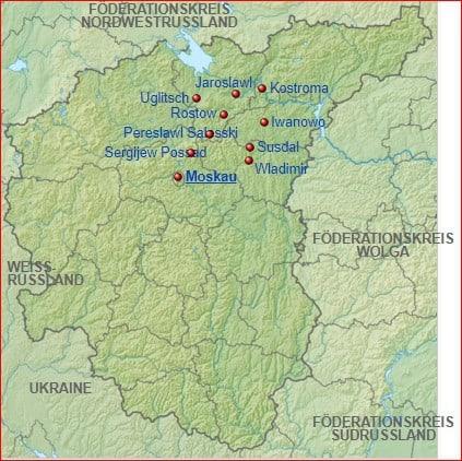 Karte Kaukasus