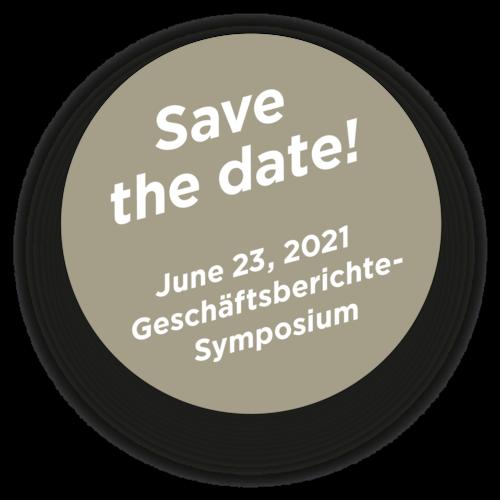 Save the date Button Geschäftsberichte-Symposium 2021