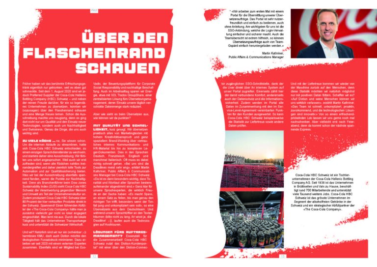 Coca-Cola HBC Schweiz Magazinartikel