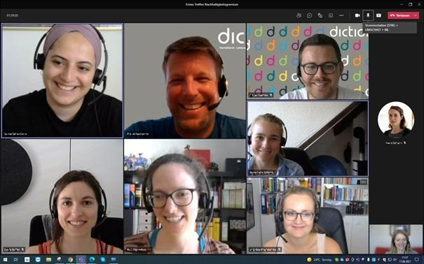 Nachhaltigkeit Skype-Call